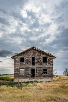 Un ospedale abbandonato nella città fantasma di robsart saskatchewan