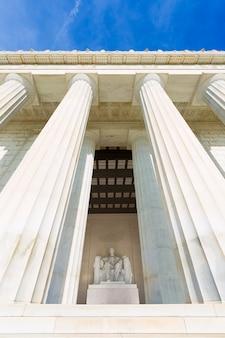 Memoriale di abraham lincoln che costruisce washington dc