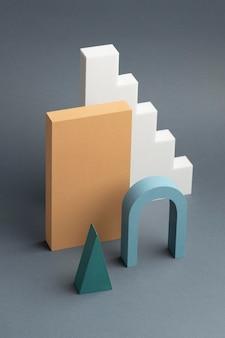 Disposizione astratta degli elementi di design 3d