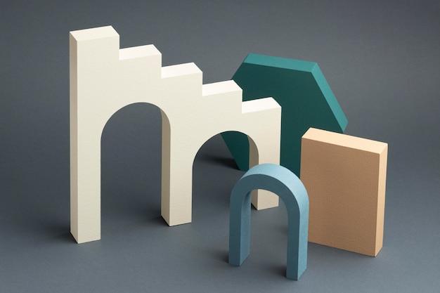 Assortimento di elementi di design 3d astratti