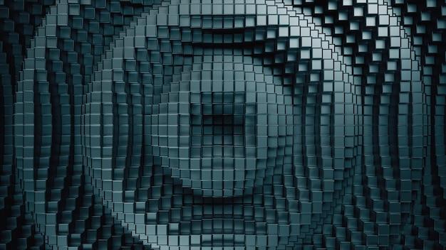 Illustrazione astratta 3d dei cubi che si muovono su e giù