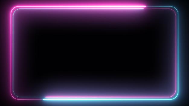 Illustrazione astratta 3d del telaio d'ardore al neon
