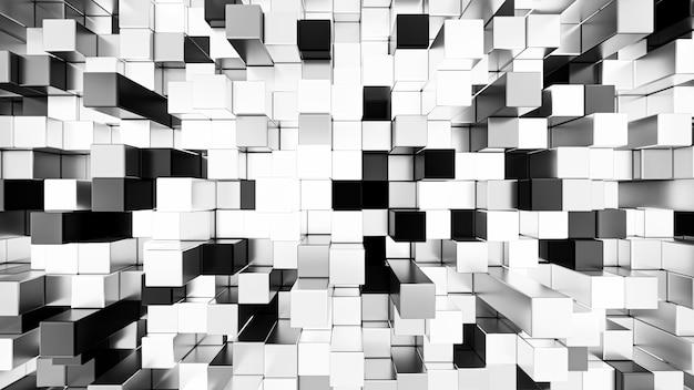 Rendering 3d astratto cubi sfondo senza soluzione di continuità.