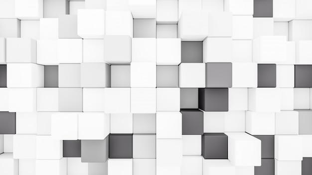 Rendering 3d astratto cubi sfondo trasparente.