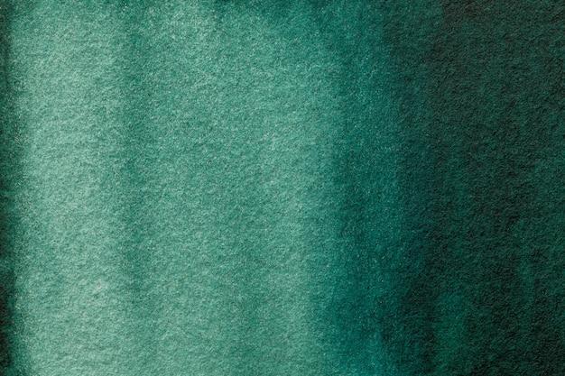 Arte astratta sfondo verde scuro e colori ciano.