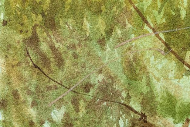 Arte astratta sfondo verde scuro e colori verde oliva.