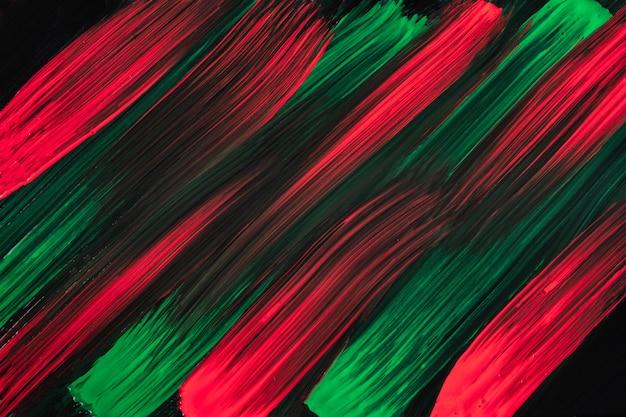 Colori rosso scuro e verdi del fondo di arte astratta. dipinto ad acquerello su tela con pennellate nere e schizzi. opera in acrilico su carta con motivo maculato. sfondo di trama.