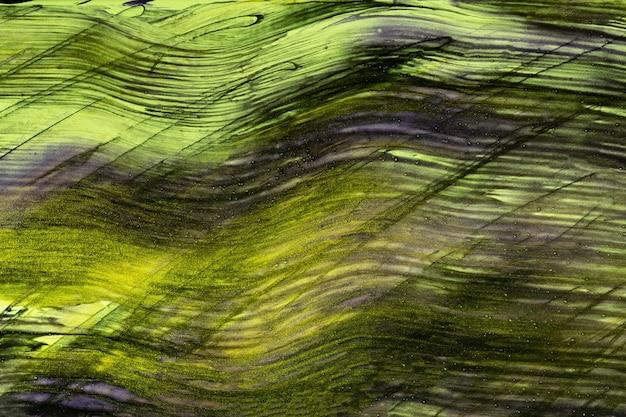 Sfondo di arte astratta colori verde e nero