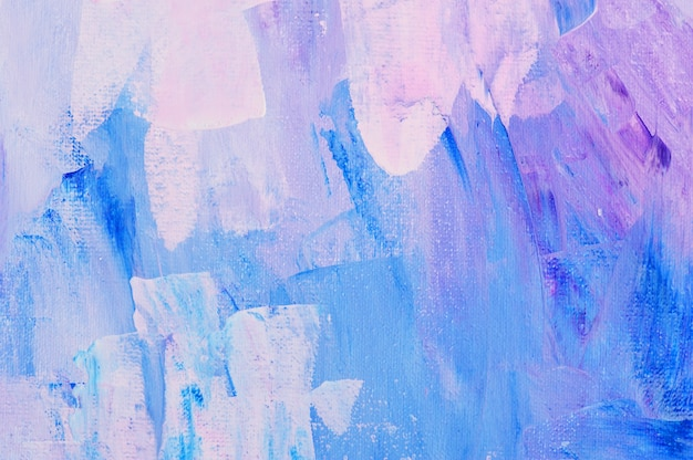 Pittura acrilica disegnata a mano del fondo di arte astratta. trama colorata di pennellate