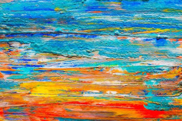 Pittura acrilica disegnata a mano del fondo di astrattismo. pennellate texture colorate.