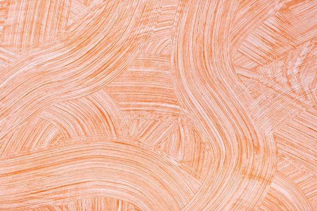 Colori arancio chiaro e bianchi del fondo di arte astratta. dipinto ad acquerello su tela con pennellate e schizzi di corallo
