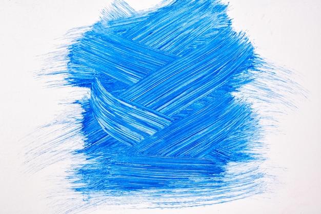 Colori blu e bianchi della priorità bassa di arte astratta. dipinto ad acquerello su tela con pennellate turchesi scure e schizzi. opera in acrilico su carta con campione di zaffiro. sfondo di trama.