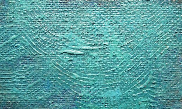 Colore blu della pittura a olio del fondo di astrattismo