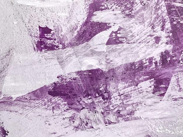 Colori viola e bianchi del fondo di arte astratta. dipinto ad acquerello su tela con sfumatura viola.