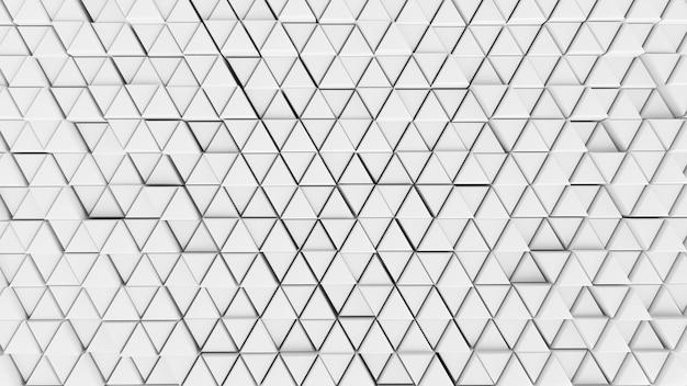 Sfondo astratto sfondo muro cellule colore chiaro bianco grafica futuristica esagono, matrice moderna rete modello tech triangolo parete carta da parati - vicino, illustrazione 3d
