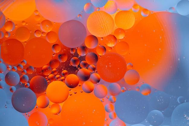 Sfondo astratto come risultato di una miscela di acqua e olio