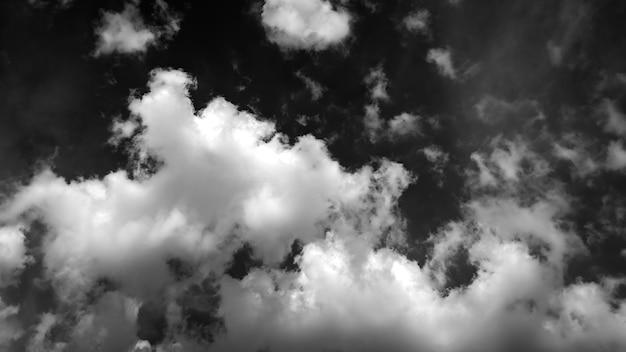 Sfondo astratto di nuvole bianche e nere
