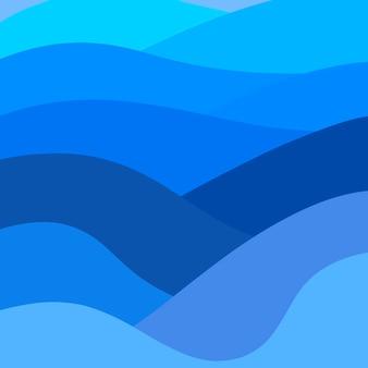 Fondo astratto delle onde blu di pendenza di eleganza del fondo