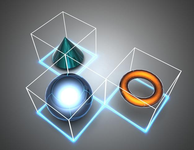 Figure astratte del fondo in cubi. illustrazione 3d
