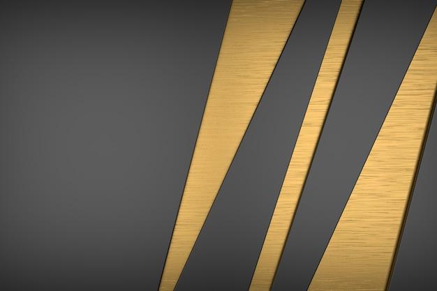 Sfondo astratto di metallo dorato. rendering 3d.