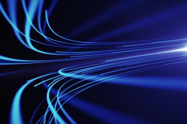Sfondo astratto di linee per rete in fibra ottica
