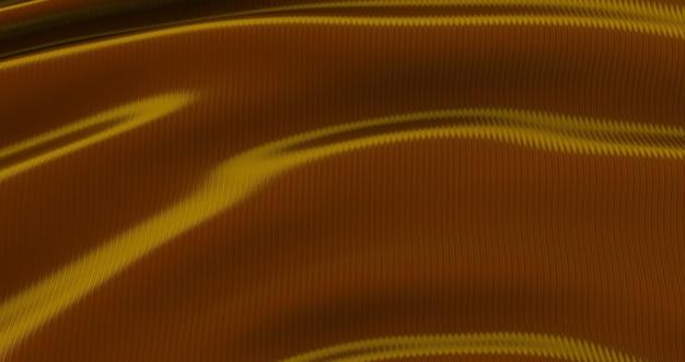Panno dorato di lusso del fondo astratto, seta dell'onda dell'oro o tessuto del raso, panno dorato