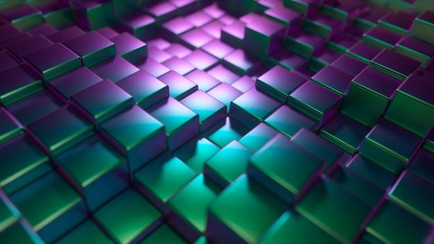 Priorità bassa astratta dei cubi lucidi del metallo