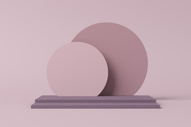 Sfondo astratto, mock up scena per la visualizzazione del prodotto. rendering 3d