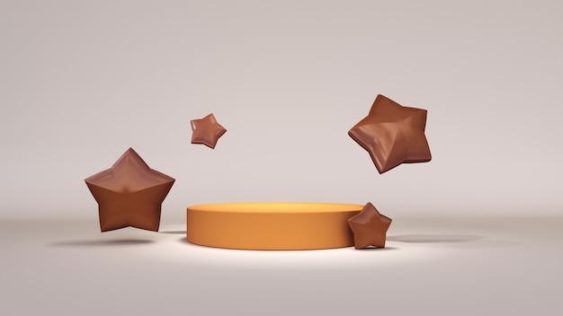 Sfondo astratto, mock up scena per la visualizzazione del prodotto con le stelle. rendering 3d