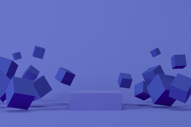 Sfondo astratto, mock up scena con podio per la visualizzazione del prodotto. rendering 3d
