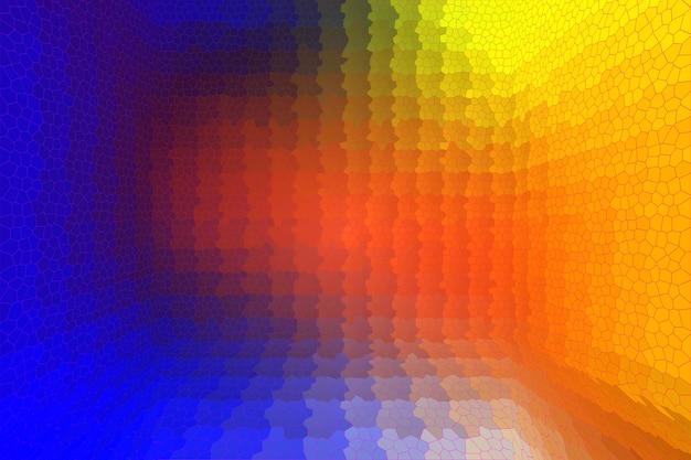 Sfondo astratto, mosaico multicolore in prospettiva