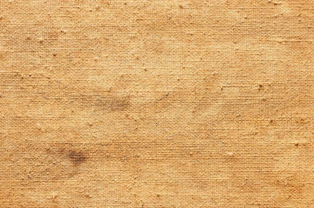 Fondo astratto di vecchia tela per la struttura di topview della pittura del primo piano