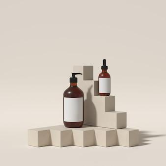 Sfondo astratto per il marchio del prodotto. mock up scene con spazio vuoto. rendering 3d