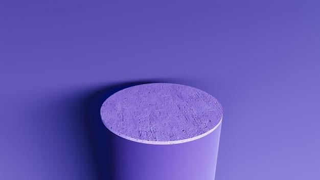 Sfondo astratto, scena per la visualizzazione del prodotto. podio in marmo 3d in un interno della stanza buia