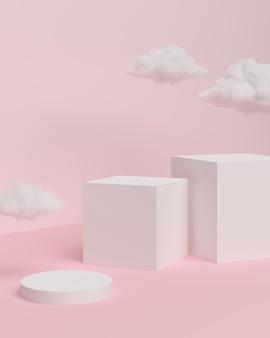Scena di sfondo astratta per il rendering 3d della visualizzazione del prodotto