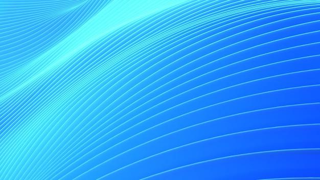 Movimento astratto dell'onda del fondo, flusso delle onde, fondo astratto, rappresentazione 3d
