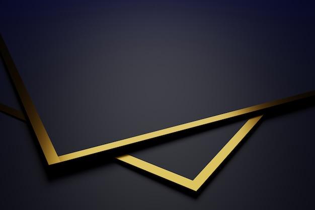 Sfondo astratto con linee dorate