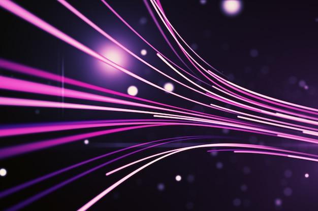 Sfondo astratto con linee per fibra ottica