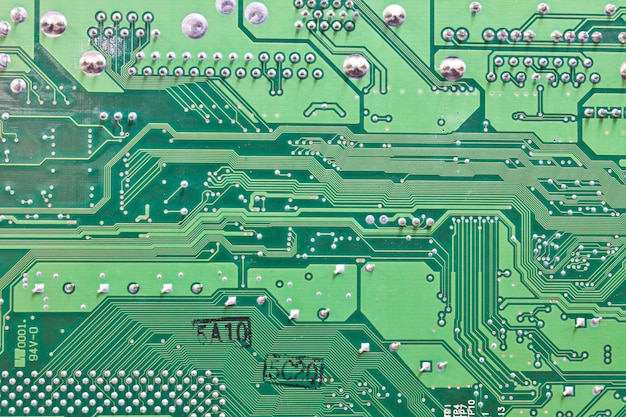 Sfondo astratto con circuito vecchio computer