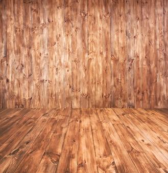I precedenti astratti con il pavimento e la parete di legno
