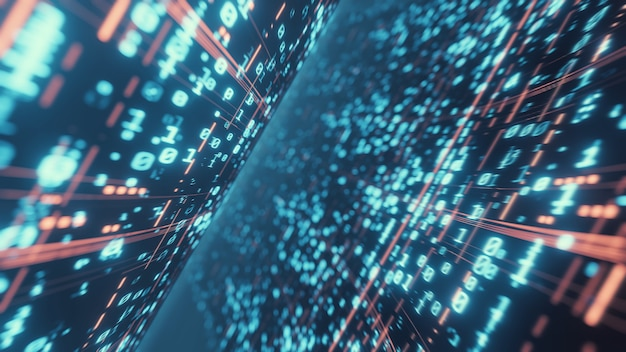 Sfondo astratto di dati binari