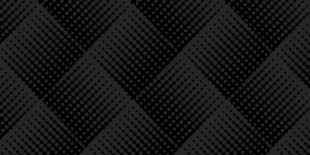 Astratto sfondo nero con motivo a mezzitoni quadrati