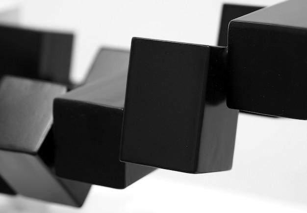 Fondo nero astratto di tecnologia delle scatole.