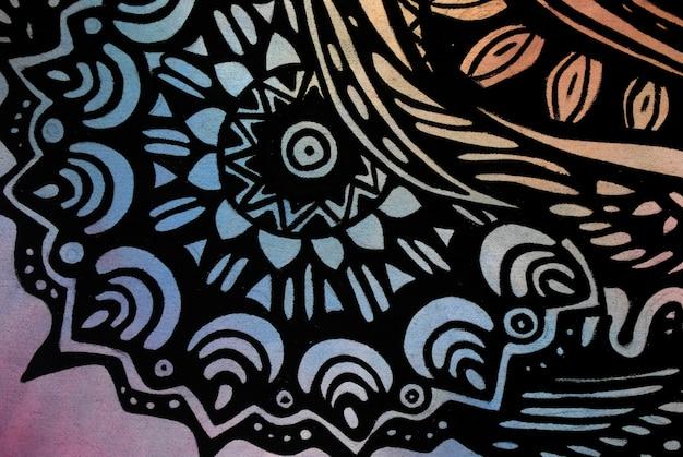 Modello nero astratto su carta per acquerello.