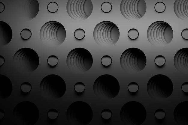 Modello astratto nero con grandi fori