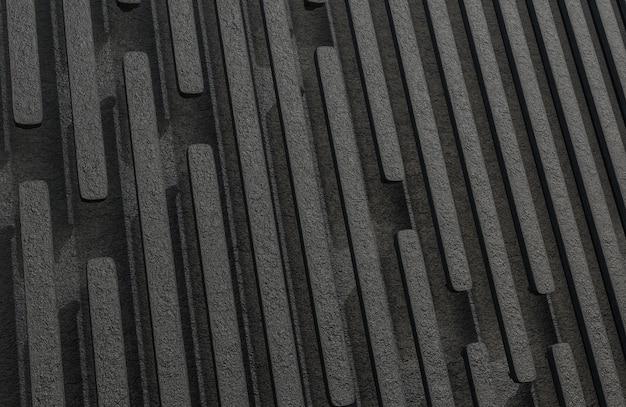 Abstract black rock stecche sfondo grunge texture stile modello 3d e illustrazione. Foto Premium