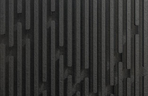 Abstract black rock stecche sfondo grunge texture stile modello 3d e illustrazione.