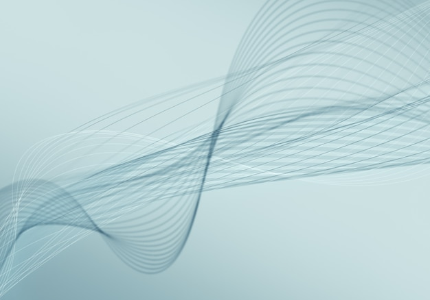 Astratto sfondo blu con linee e punti collegati flusso