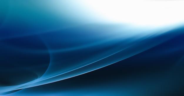 Astratto sfondo blu con linee lucenti lisce