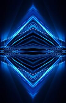 Neon scuro blu astratto